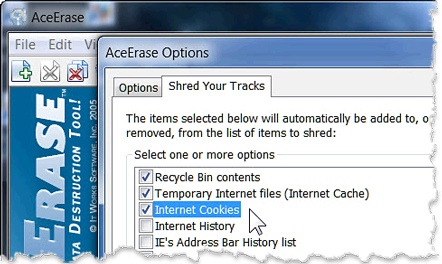 Delete browsing history and computer activities.